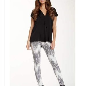 Vince Wax Coated Patterned Jeans